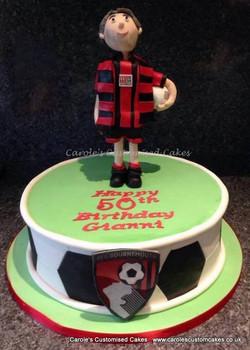 Bournemouth football fan cake