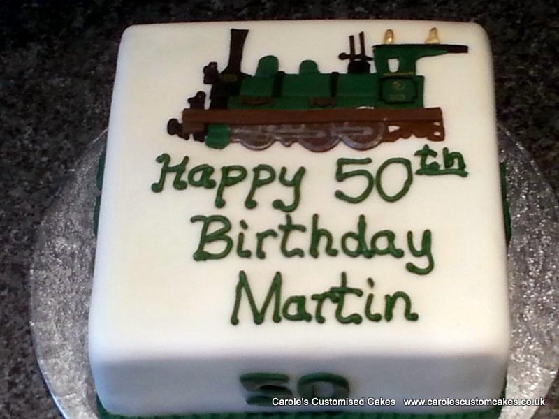 Trains cake