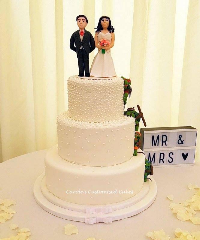 3 tier dot wedding cake