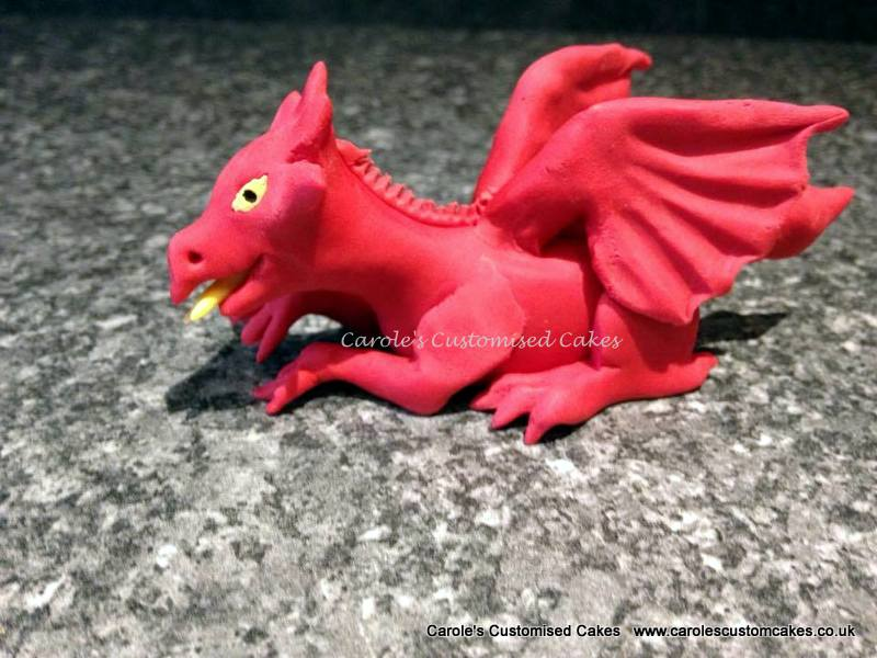 Red dragon cake topper