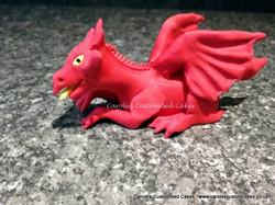 Red dragon cake topper
