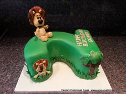 Lion number 2 cake