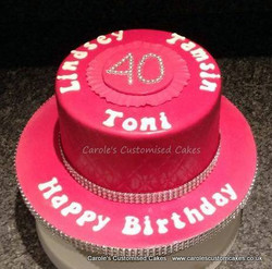 Hot pink 40 cakes