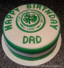 Football badge cake