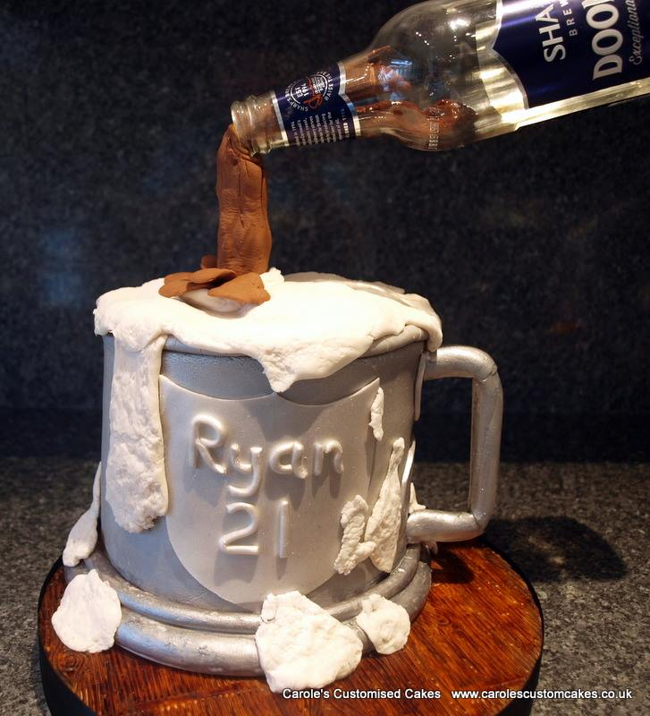 Tankard illusion cake