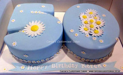 Number 50 cake with daisies