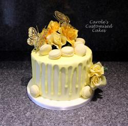 Luscious lemon drip cake