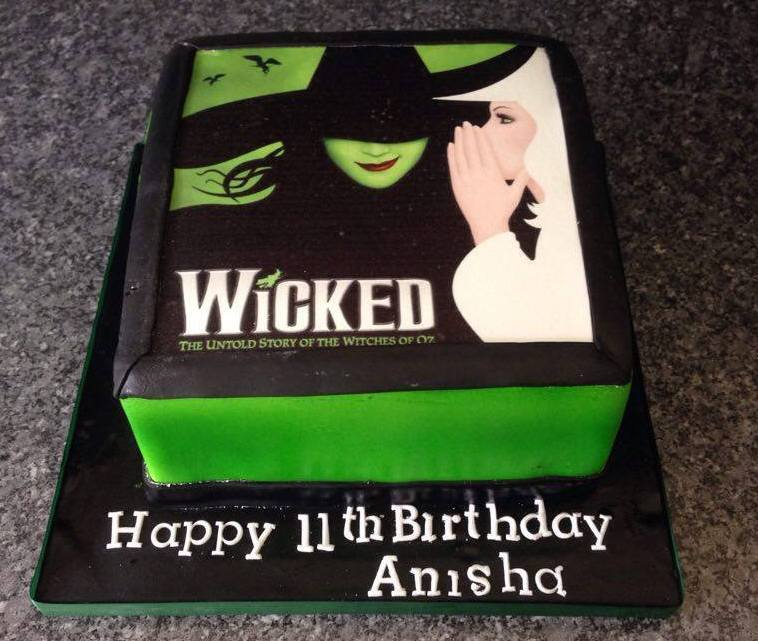 Wicked edible print cake