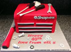 Mechanics toolbox cake