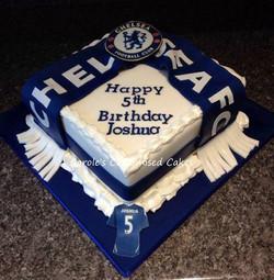 Chelsea supporter's cake