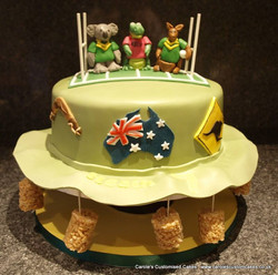 Australian cork hat cake