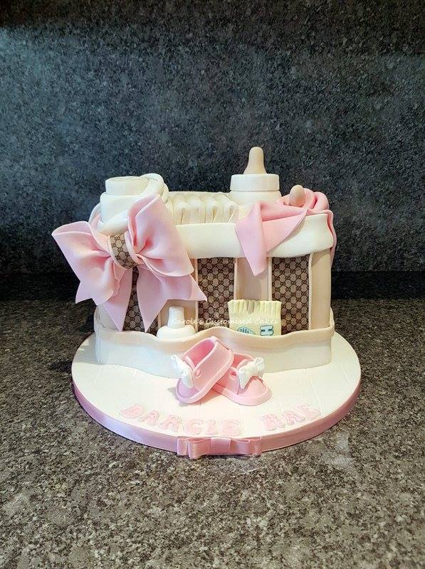 Baby changing bag cake