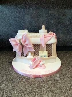 Baby changing bag cake
