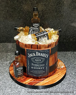 JD barrel cake