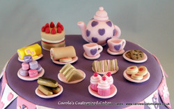 Afternoon tea cake topper
