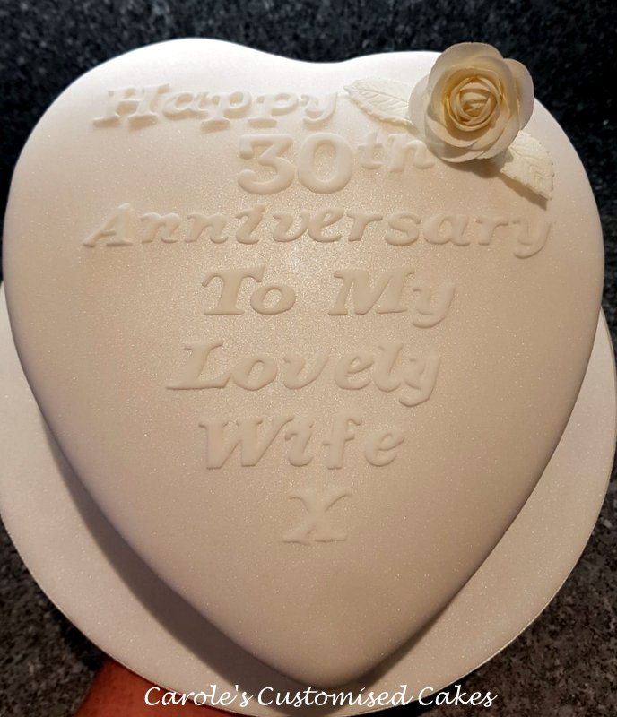 For my wife anniversary cake
