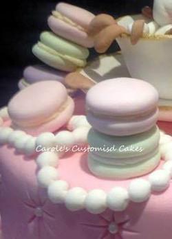 Macarons cake topper