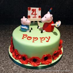 Pig and poppy cake