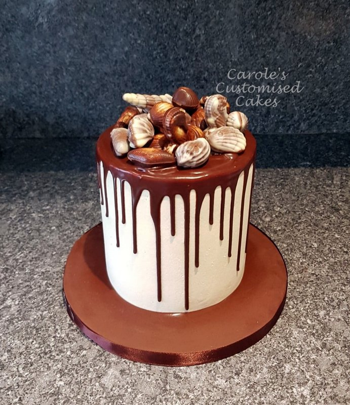 Guylian drip cake