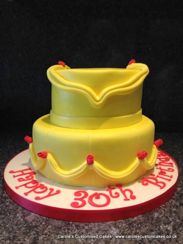 Yellow princess dress cake