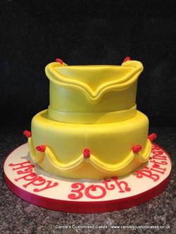 Yellow princess dress cake