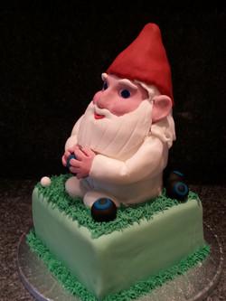 Bowling gnome cake