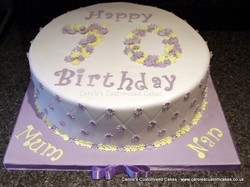 70 in flowers cake