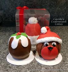 individual Christmas cakes.jpg