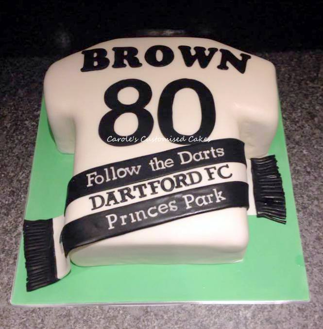 Dartford FC shirt cake