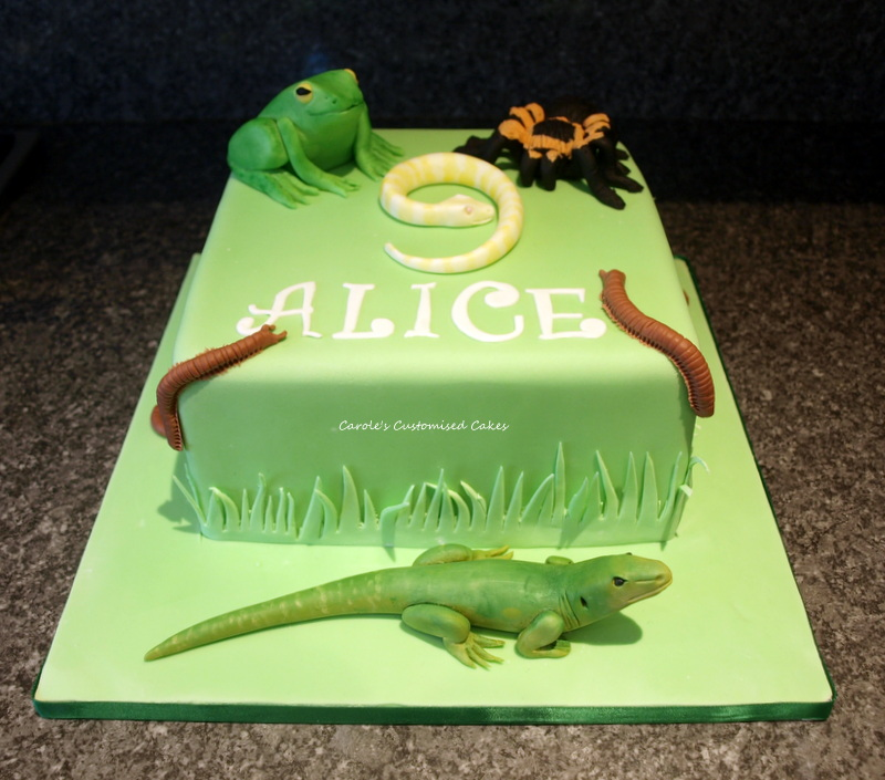 Animal party cake