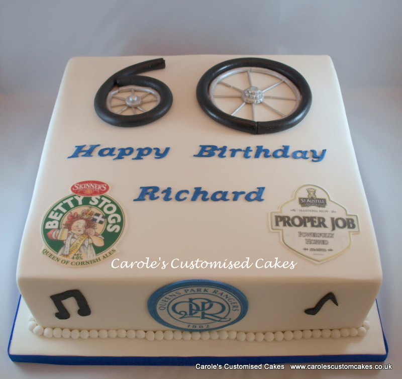 60th birthday cycle cake