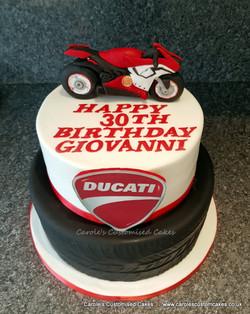 Ducati motorbike cake