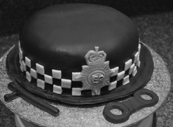 Police woman's hat.