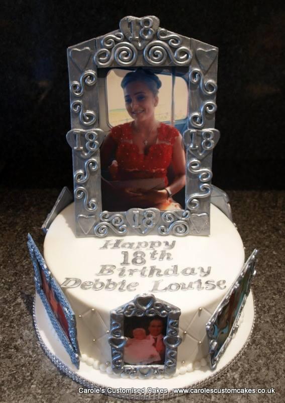 photograph frame cake