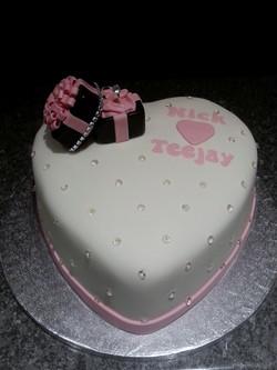 Engagment heart cake.
