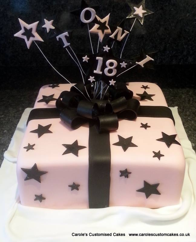Pink and Black gift cake.jpg