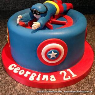 indoor skydiving 21st cake