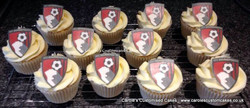 football badge cupcakes