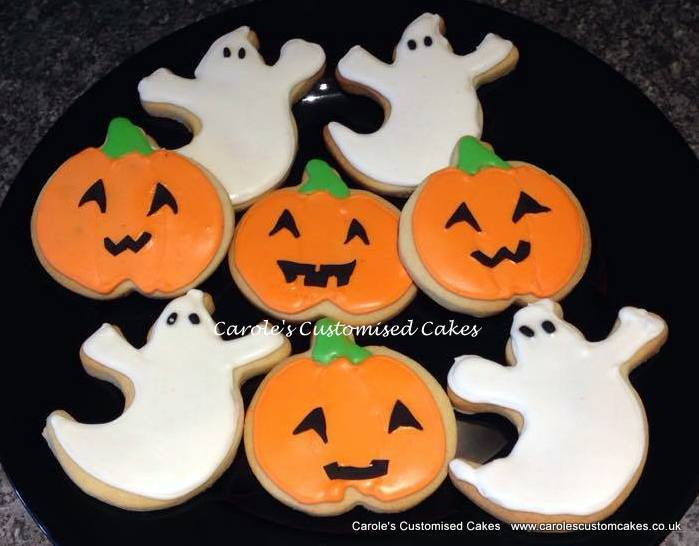 Pumpkin and ghost cookies