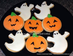 Pumpkin and ghost cookies