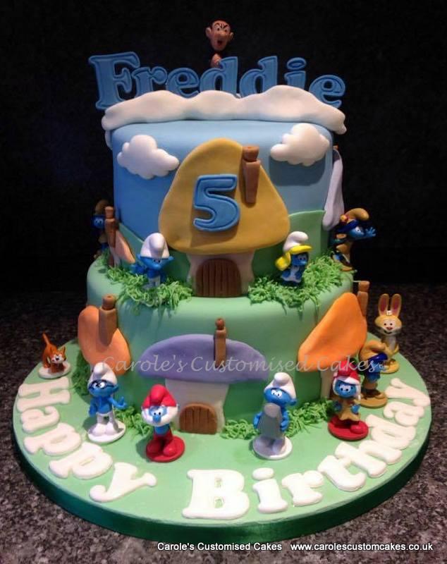 Mushroom village cake