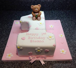 Teddy number 1 cake