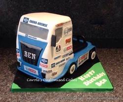 Racing truck cake