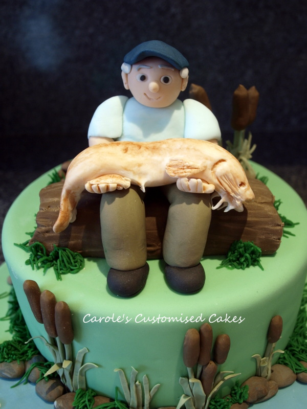 Fisherman cake topper