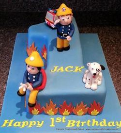 Fireman Sam Number 1 cake