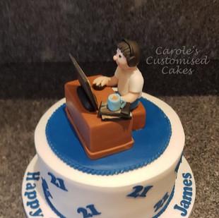 21st birthday gaming cake