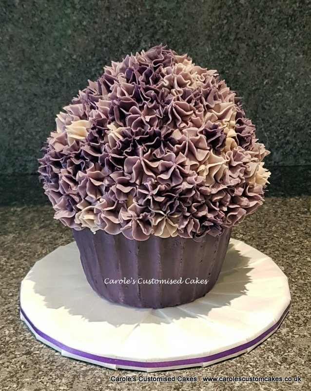 Purple giant cupcake