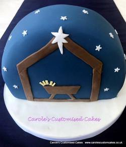 Nativity Christmas cake
