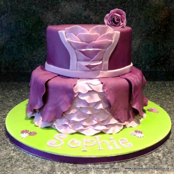 Purple Princess dress cake