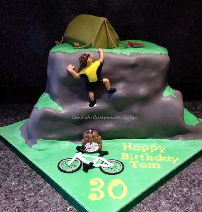 Climbing activity cake